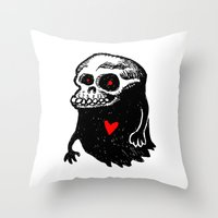 Freddy, the loving Skullghost Throw Pillow
