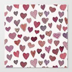Artsy Hearts Canvas Print