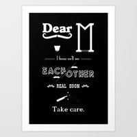Dear M. Art Print