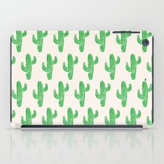 Linocut Cacti Green iPad Case