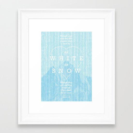 as white as snow Framed Art Print