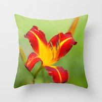 Opens With Life Throw Pillow