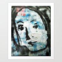 VENUSIAN FACE 4 (PUZZLED DISK VERSION) Art Print