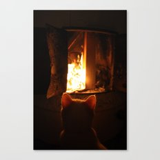 Misan intranced by fire... Canvas Print