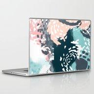 August - Abstract Modern… Laptop & iPad Skin