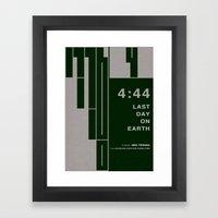4:44 - MINIMALIST POSTER Framed Art Print