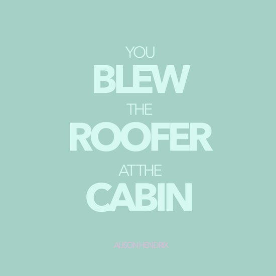 The Roofer at the Cabin Art Print