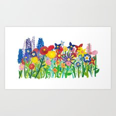 Flowery Bouquet Art Print