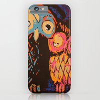 iPhone & iPod Case featuring Psychedelic Owls by CAPow!
