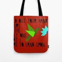 Hummingbird - The Weepies Lyrics Tote Bag
