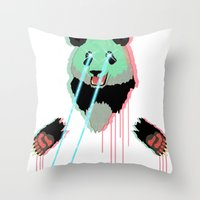 Panda with F$%king Lazers Throw Pillow