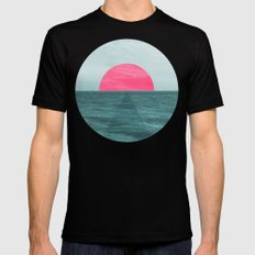 Magenta Sunset SMALL Mens Fitted Tee Black