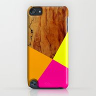 Wooden Colour Blocking iPod touch Slim Case