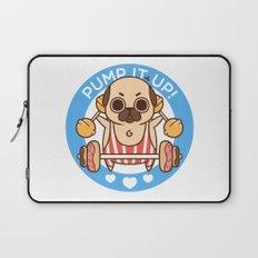 Pump It Up, Puglie! Laptop Sleeve