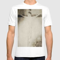 Touched by grace White SMALL Mens Fitted Tee