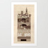 Townscape Vintage Art Print