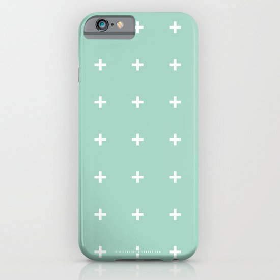 Mint Cross // Mint Plus ///www.pencilmeinstationery.com iPhone & iPod Case