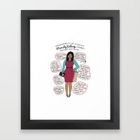 Mindy Kaling The Imagina… Framed Art Print