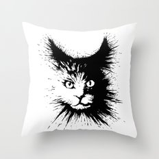Inkcat4 Throw Pillow