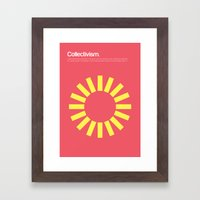Collectivism Framed Art Print