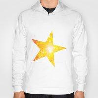 Shimmering Stars Orange Hoody