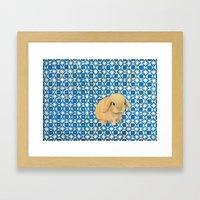 Charlie the Rabbit Framed Art Print
