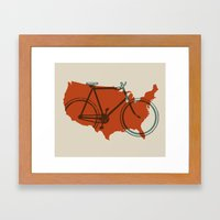 Bike America Framed Art Print