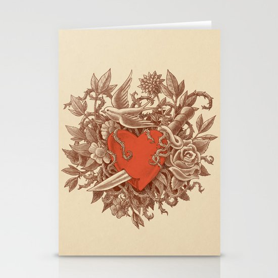 Heart of Thorns  Stationery Card