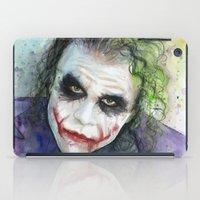 The Joker Watercolor iPad Case