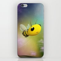 Bee Flying On Colour Sky iPhone & iPod Skin