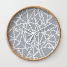 Ab Blocks Grey #2 Wall Clock
