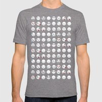 Jack's Emoticons Mens Fitted Tee Tri-Grey SMALL
