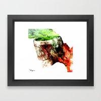 Open Skull Framed Art Print