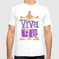 Viva Life! Mens Fitted Tee White SMALL