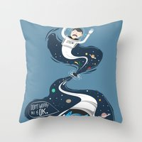 Across The Dark Hole Throw Pillow
