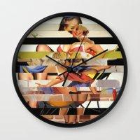 Glitch Pin-Up Redux: Gwe… Wall Clock
