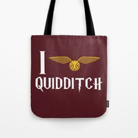 I Love Quidditch Tote Bag