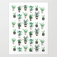 Bunch Of House Plants Art Print