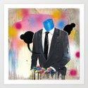 Plasticine man in a suit. Art Print