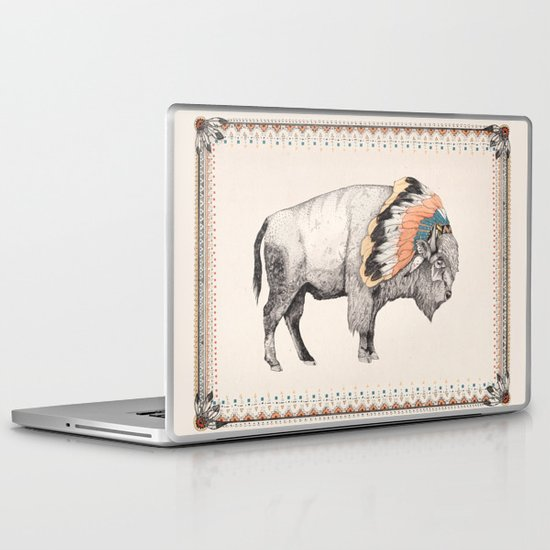 White Bison Laptop & iPad Skin
