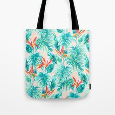Tropical Paradise Pale Peach Tote Bag