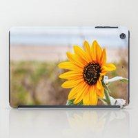 Sunflower near ocean iPad Case