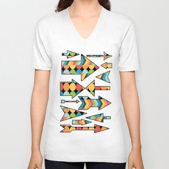Retro Color Play V-neck T-shirt
