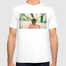 moth White Mens Fitted Tee SMALL