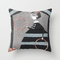 The Red Rings Throw Pillow