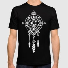Cosmic Dreamcatcher Mens Fitted Tee Black SMALL