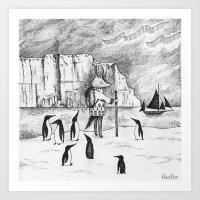 Antarctic Explorer Art Print
