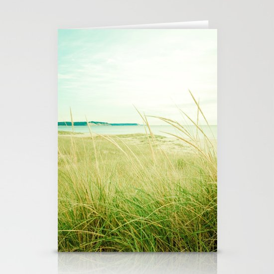 September at the Beach Stationery Card