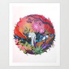 Moon Cobra Art Print