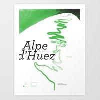 Famous Climbs: Alpe D'Hu… Art Print